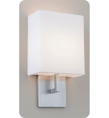 Ayre HEL1-A-WS-PA-FL Boutique Helika ADA Wall Sconce Light with White Shantung Diffuser With Finish: Polished Aluminum And Lamping Type: Fluorescent