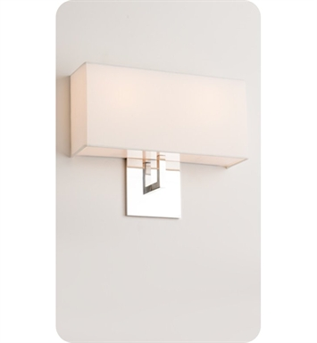 Ayre HELD-A-WS-BA-INC Boutique Helika Double ADA Wall Sconce Light With Finish: Brushed Aluminum And Lamping Type: Incandescent