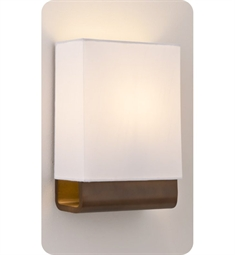 Ayre Kyoto KYO2 ADA Wall Sconce Light with White Shantung Diffuser