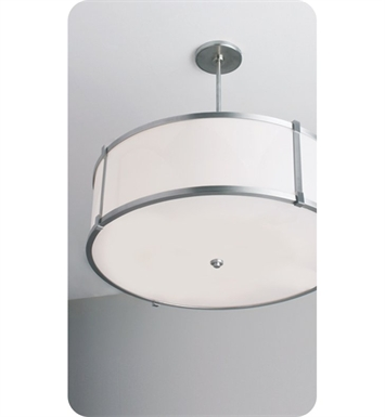 "Ayre LBP24-P-SA-PN-C-FL Litebox 24"" Customizable Pendant Light with Shiny Opal Acrylic Diffuser With Finish: Polished Nickel And Lamping Type: Fluorescent And Crossbars: With Crossbars"