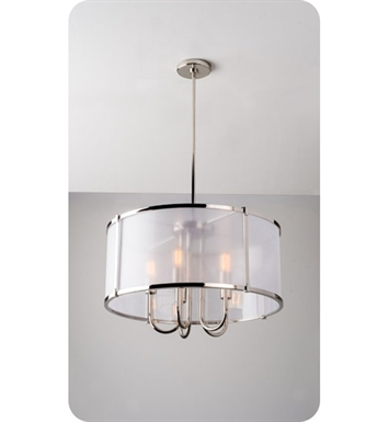 Ayre LOP24-P-GS-CH-LED Litebox Open Pendant Light with Customizable Diffuser With Finish: Polished Chrome And Lamping Type: LED And Diffuser: Organza Silver Fabric