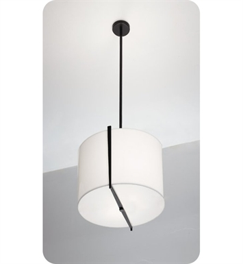 "Ayre LYR12-P-SA-PN-FL Lyric 12"" Pendant Light with Shiny Opal Acrylic Diffuser With Finish: Polished Nickel And Lamping Type: Fluorescent"