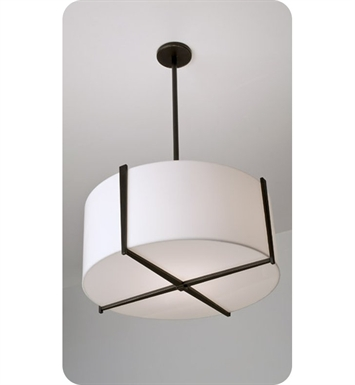 "Ayre LYR24-P-SA-PN-FL Lyric 24"" Pendant Light with Shiny Opal Acrylic Diffuser With Finish: Polished Nickel And Lamping Type: Fluorescent"