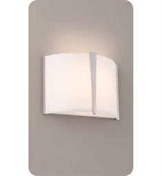 Ayre LYR1-A-SA Lyric Wall Sconce Light with Shiny Opal Acrylic Diffuser