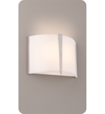 Ayre LYR1-A-SA-PN-FL Lyric Wall Sconce Light with Shiny Opal Acrylic Diffuser With Finish: Polished Nickel And Lamping Type: Fluorescent