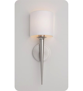Ayre MET1-A-WS-BN-LED Metro ADA Wall Sconce Light with White Shantung Diffuser With Finish: Brushed Nickel And Lamping Type: LED