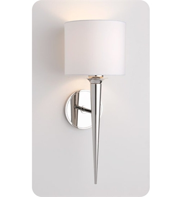 Ayre MET2-S-WS-BN-INC Metro Wall Sconce Light with White Shantung Diffuser With Finish: Brushed Nickel And Lamping Type: Incandescent