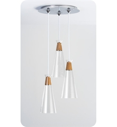 Ayre Naked Round Three Light Pendant with Droplet Canopy