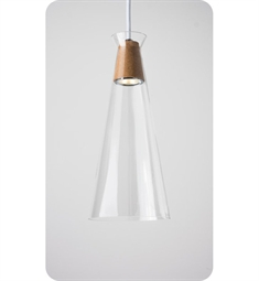 Ayre Naked Single Light Pendant with Clear Glass Diffuser