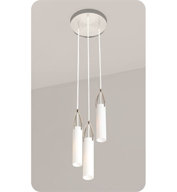 Ayre PETT-P-SO-BN-INC Petal Triple Pendant Light with Shiny Opal Glass Diffuser With Finish: Brushed Nickel And Lamping Type: Incandescent