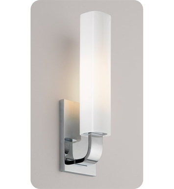 Ayre REF1-A-CS-CH-FL Reflex ADA Wall Sconce Light with Cased Shiny Opal Glass Diffuser With Finish: Polished Chrome And Lamping Type: Fluorescent
