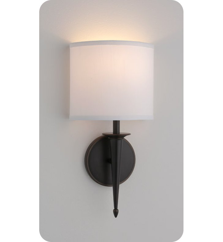 Ada Wall Sconces Led : Ayre SIE1-A-WS-PN-LED Siena ADA Wall Sconce Light with White Shantung Diffuser With Finish ...