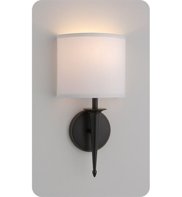 Ayre SIE1-A-WS-OB-FL Siena ADA Wall Sconce Light with White Shantung Diffuser With Finish: Oil Rubbed Bronze And Lamping Type: Fluorescent