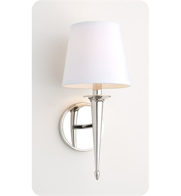 Ayre SIE2-S-WS-PN-LED Siena Wall Sconce Light with White Shantung Diffuser With Finish: Polished Nickel And Lamping Type: LED