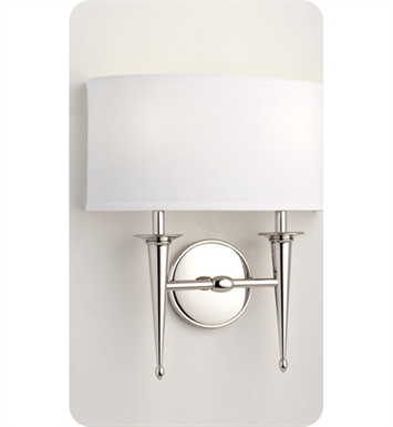 Ayre SIED-A-WS-PN-LED Siena Duo Wall Sconce Light with White Shantung Diffuser With Finish: Polished Nickel And Lamping Type: LED