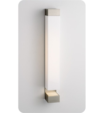 Ayre SUR1-A-MA-BN-FL Surface Wall Sconce Light with Matte Opal Acrylic Diffuser With Finish: Brushed Nickel And Lamping Type: Fluorescent