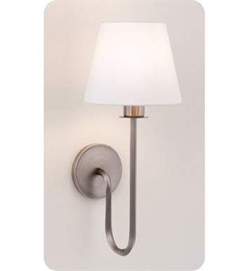 Ayre VER1-S-WS-PN-INC Vertex Wall Sconce Light with White Shantung Diffuser With Finish: Polished Nickel And Lamping Type: Incandescent