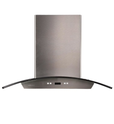 "Cavaliere-Euro SV218D-I36 36"" Stainless Steel and Glass Island Mount Range Hood"