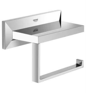 "Grohe 40499000 Allure Brilliant 5 7/8"" Wall Mount Toilet Paper Holder in Chrome"