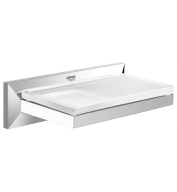 "Grohe 40504000 Allure Brilliant 6 7/8"" Wall Mount Soap Dish with Shelf in Chrome"