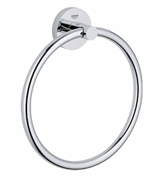 Grohe Essentials Towel Ring in Brushed Nickel