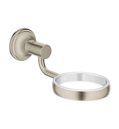 Grohe Essentials Authentic Glass / Dish Holder in Brushed Nickel