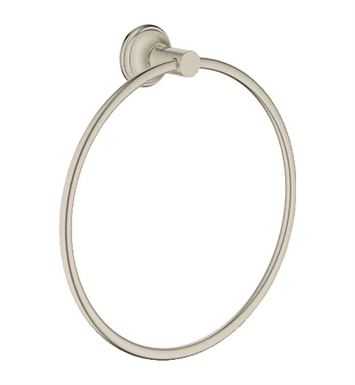 Grohe 40655EN0 Essentials Authentic Towel Ring in Brushed Nickel