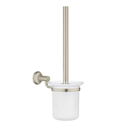 Grohe Essentials Authentic Toilet Brush Set in Brushed Nickel