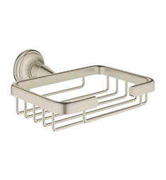 Grohe Essentials Authentic Soap Basket in Brushed Nickel
