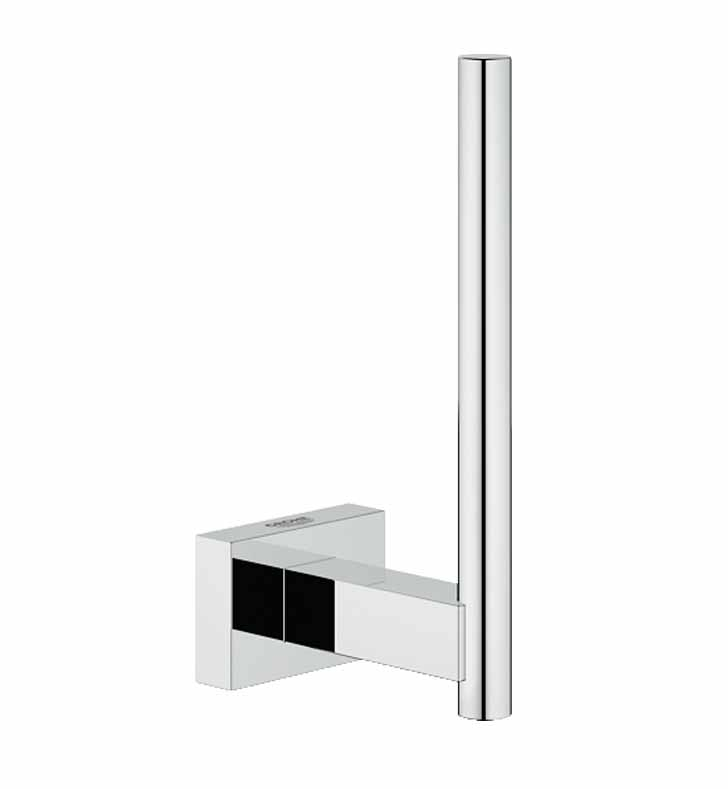grohe 40623000 essentials cube reserve toilet paper holder in chrome. Black Bedroom Furniture Sets. Home Design Ideas