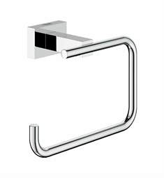 Grohe Essentials Cube Toilet Paper Holder in Chrome