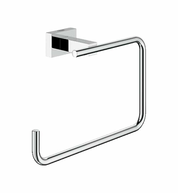 Grohe 40510000 Essentials Cube Towel Ring in Chrome