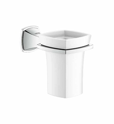 Grohe Grandera Holder with Ceramic Tumbler in Chrome