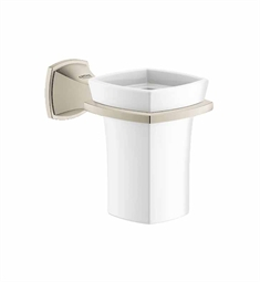 Grohe Grandera Holder with Ceramic Tumbler in Brushed Nickel