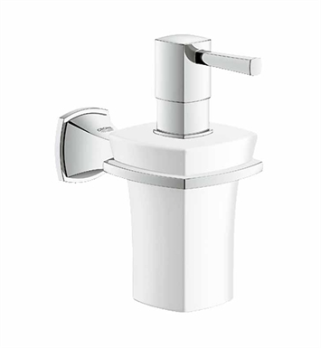 Grohe 40627000 Grandera Holder with Ceramic Soap Dispenser in Chrome