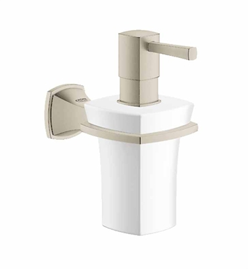 Grohe 40627EN0 Grandera Holder with Ceramic Soap Dispenser in Brushed Nickel