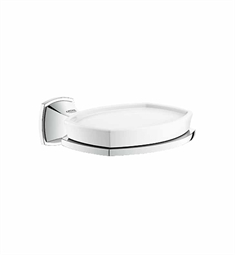 Grohe Grandera Holder with Ceramic Soap Dish in Chrome