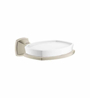 Grohe 40628EN0 Grandera Holder with Ceramic Soap Dish in Brushed Nickel