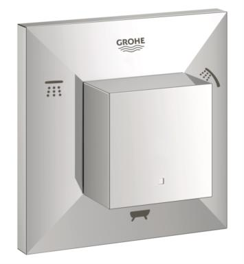 "Grohe 19799000 Allure Brilliant 4"" Five Port Diverter Trim in Chrome"