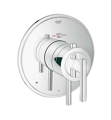 Grohe 19849000 GrohFlex Timeless Dual Function Thermostatic Trim with Control Module in Chrome Finish