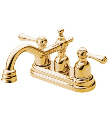 Danze Opulence™ Two Handle Centerset Lavatory Faucet in Polished Brass