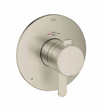 Grohe 19878EN0 Europlus Dual Function Thermostatic Trim with Control Module in Brushed Nickel