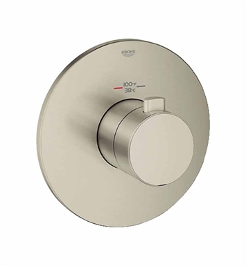 Grohe 19879EN0 Europlus Custom Shower Thermostatic Trim with Control Module in Brushed Nickel