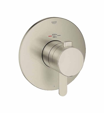 Grohe 19869EN0 Europlus Single Function Thermostatic Trim with Control Module in Brushed Nickel