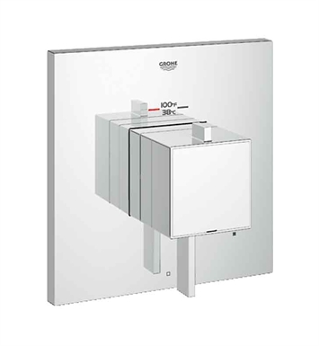 Grohe 19926000 Eurocube Single Function Thermostatic Trim with Control Module in Chrome