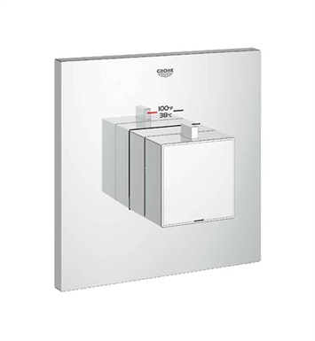 Grohe 19928000 Eurocube Custom Shower Thermostatic Trim with Control Module in Chrome