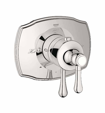 Grohe 19825BE0 Grohtherm 2000 Authentic Dual Function Thermostatic Trim with Control Module in Polished Nickel