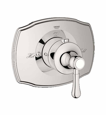 Grohe 19839BE0 Grohtherm 2000 Authentic Custom Shower Thermostatic Trim with Control Module in Polished Nickel