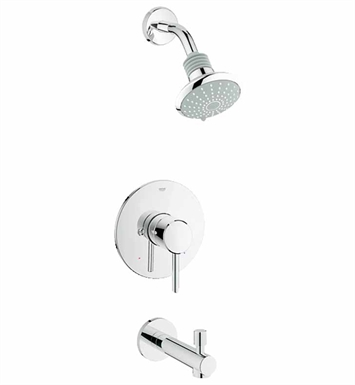 Grohe 35009001 Concetto Pressure Balance Valve Bath Combination in Chrome