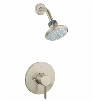 Grohe 35010EN1 Concetto Pressure Balance Valve Shower Combination in Brushed Nickel